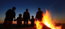 Family by the Fire Rings, photo credit unknown