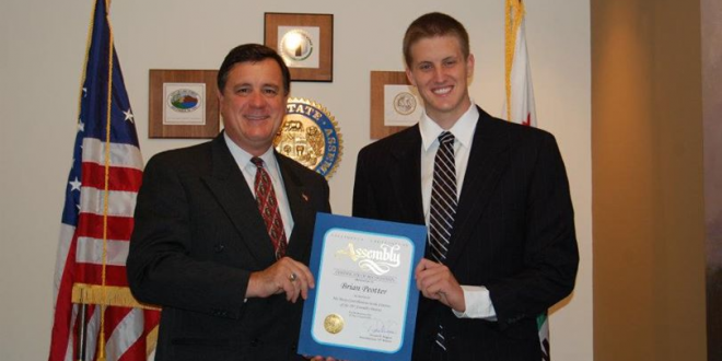 Photo of Brian Peotter and State Assemblyman Don Wagner