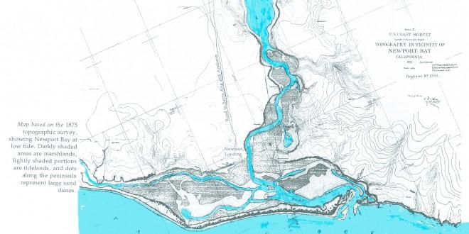 Map of Newport Beach Before Dredging - 1875