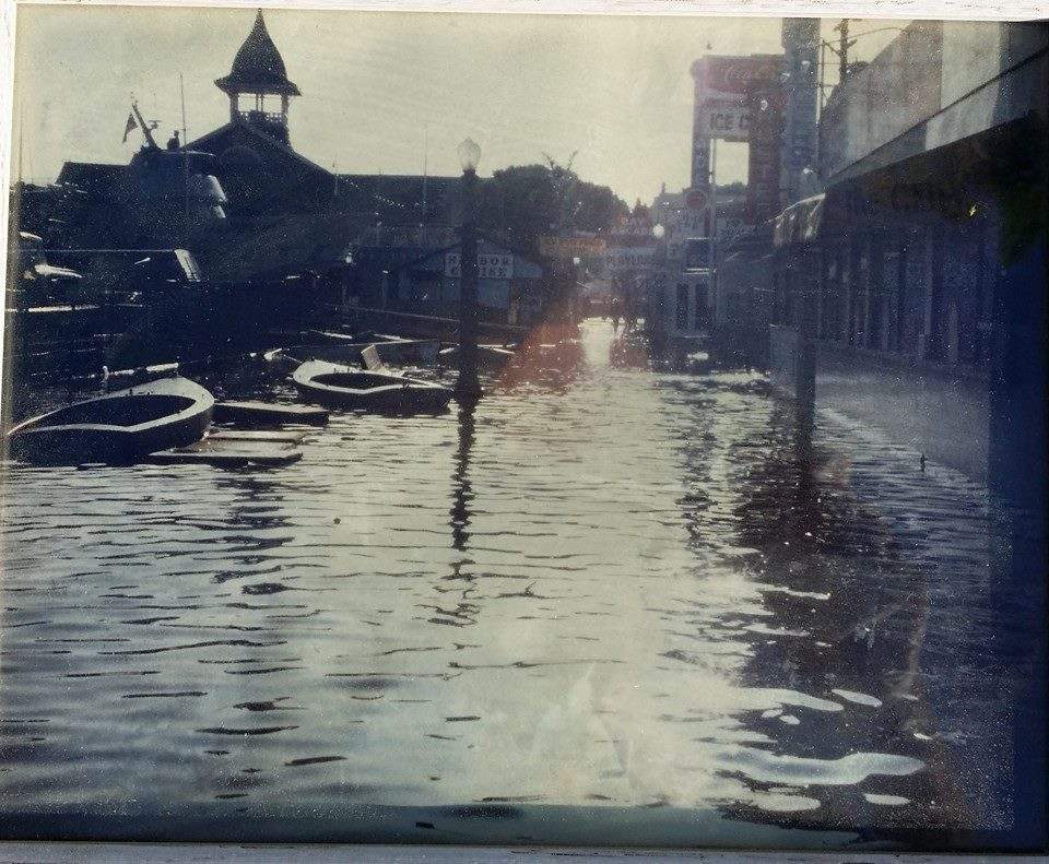 Balboa Peninsula flooding 1970s - 2