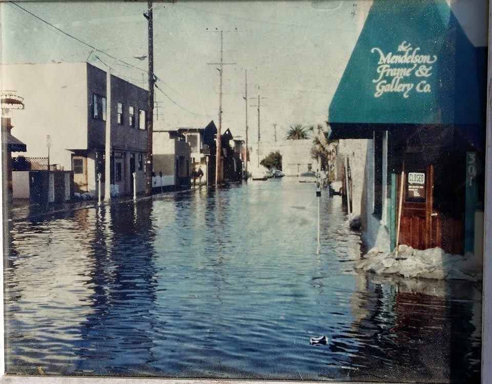 Balboa Peninsula flooding 1970s