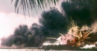 USS Shaw at Pearl Harbor