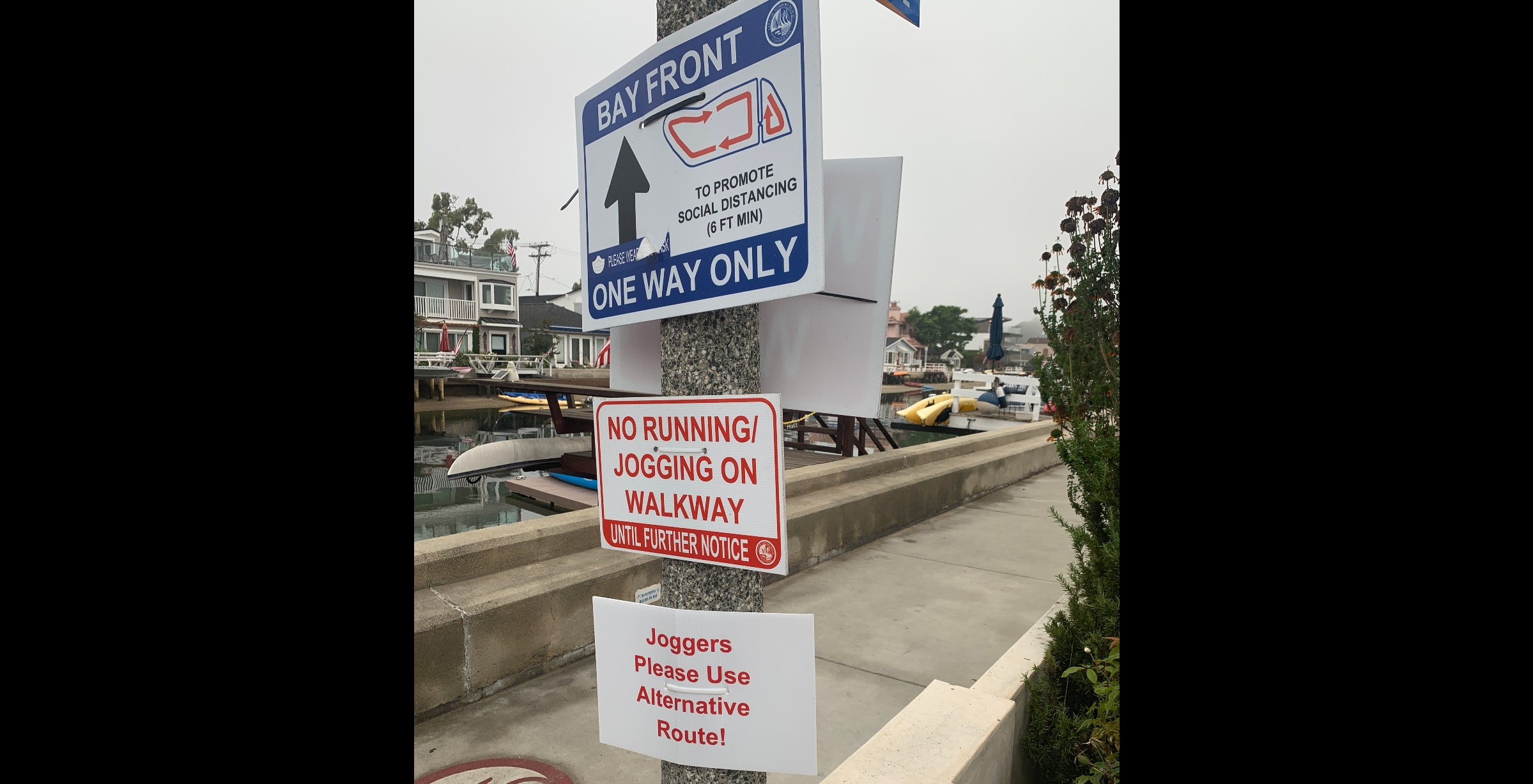Balboa Island One Way Signs by Anita Rovsek