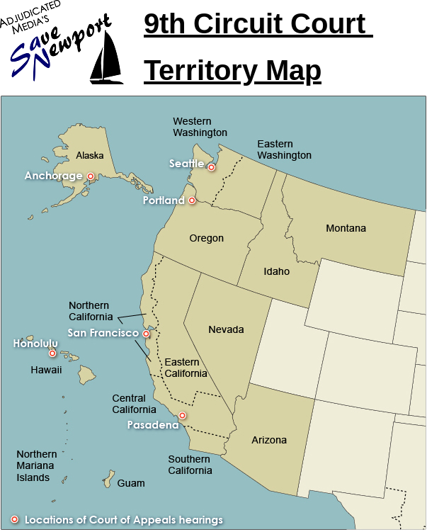 9th Circuit Court Territory Map